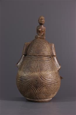 African art - Bakongo powder container