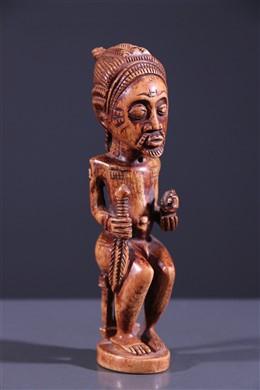 Baoulé King Ivory statue