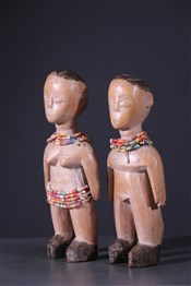 Statues africainesCouple of twins Ewe Venavi
