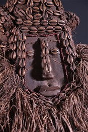 Masque africainRoyal Mask Kuba Mwash a mboy