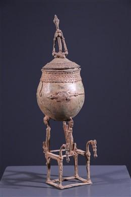 African art - Dogon ointment pot
