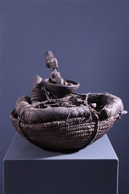 Songye reliquary basket